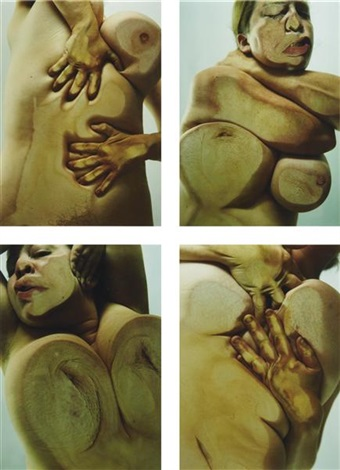 closed contact set of 4 by jenny saville