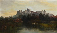 windsor castle from the thames by allan