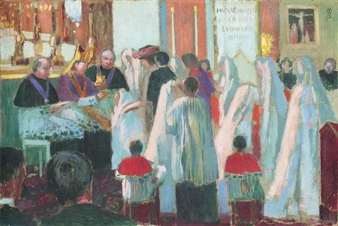 scène de confirmation by maurice denis