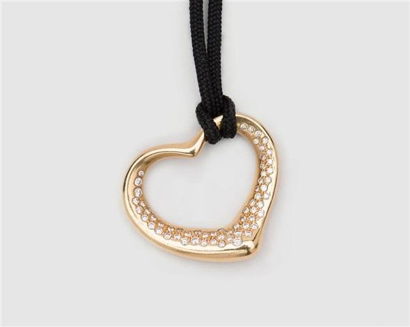 18k yellow gold and diamond open heart pendant elsa peretti 18k yellow gold and diamond open heart pendant elsa peretti tiffany aloadofball Image collections