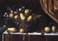 nature morte à la corbeille de fruits by josefa de (obidos) ayala