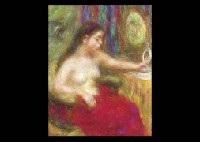 Woman holding mirror by Kiyonaga Ito on artnet