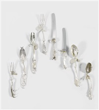 service de table: couverts de iolas (set of 64) by claude lalanne