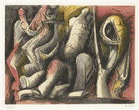 four ideas for sculpture (c. 649) by henry moore