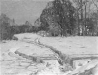 winter snow scene by camillo adriani
