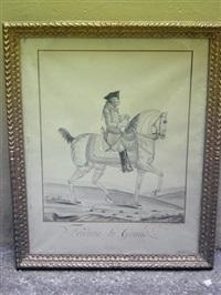 portrait équestre de frédéric le grand by auvrest