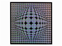 multiple, op-art composition by victor vasarely