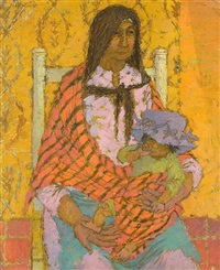 portrait of an old woman with baby by jean young