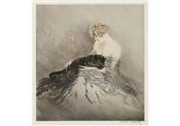 fanny and cat by louis icart