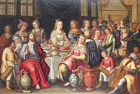 the wedding feast at cana by frans francken the elder
