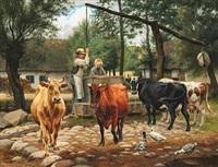 køerne vandes by otto bache