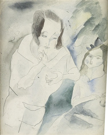 femme et sa fille by jules pascin