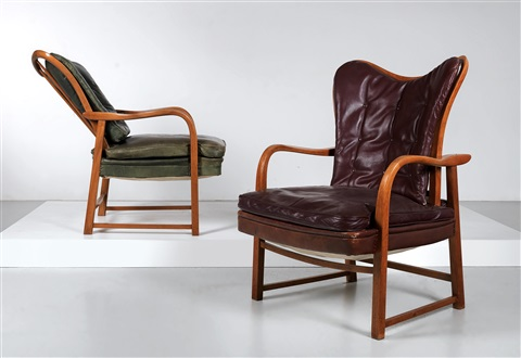 Two Armchairs By Oswald Haerdtl