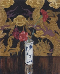 still life with chinese wallpaper by william macdonald