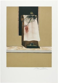 leon trotsky, from triptych 1986-1987 by francis bacon