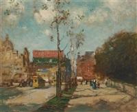 near the park, new york by paul cornoyer