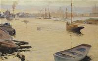 south harbour of helsinki i by albert edelfelt