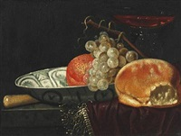 still lifes (pair) by jacob van hulsdonck