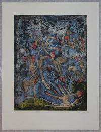 l'ame du tarot de theleme (portfolio w/5 works) by roberto matta
