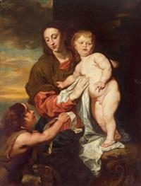 madonna mit kind und dem johannesknaben by jan van den hoecke