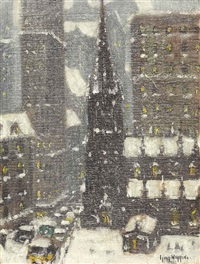 old trinity, new york by guy carleton wiggins