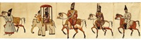 fath 'ali shah, muhammad shah and nasr al-din shah, horsemen, carriages, camels and soldiers by anonymous-persian (19)