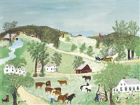 cross roads by grandma moses