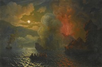 vesuvius in eruption by nikolai pavlovich krasovsky