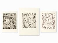 3 figural compositions by volker hueller