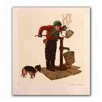 winter morning by norman rockwell