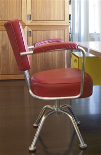 swiveling armchair from the montecatini building, milan by gio ponti