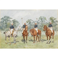 polo team by reginald augustus wymer