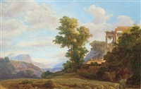 italian landscape by karoly marko the younger