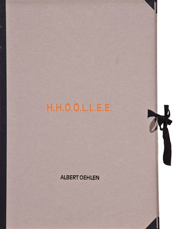 hhööllee portfolio of 7 by albert oehlen