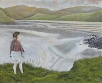girl beside a lake by james lloyd