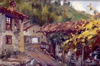 pueblo asturiano by antonio iglesias sanz