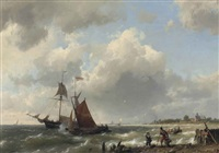 in full sail by hermanus willem koekkoek