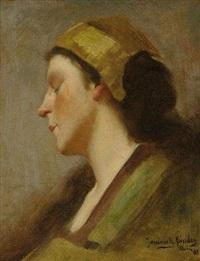 jeune fille au bonnet by janiczek sandoz
