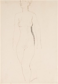 standing nude by frank dobson