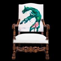綠狗系列櫸木大扶手椅 (green dog series - beech armchair) by zhou chunya