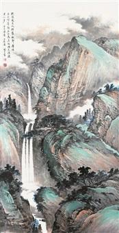 青绿山水 by xiao feng zi