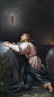 christus am ölberg - cristo nel giardino degli ulivi by ambrogio giovanni figino