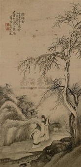 探梅图 (figure) by jiang lian