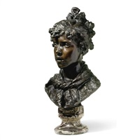 a bust of a girl by ercole rosa
