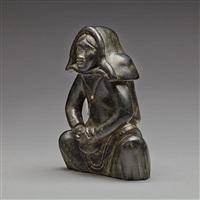 seated inuit woman by joe talirunili