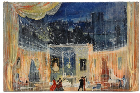 The Drawing Room Of Margaret Stage Design For Lady With Camelias By Yuri