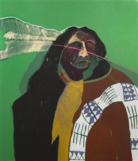 crow indian by fritz scholder