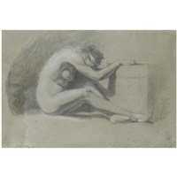 melancholia (+ study of a male nude, verso) by john opie