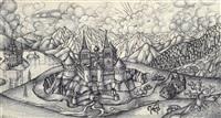 gebirgslandschaft mit einer burg by igor wladimirowitsch sokol