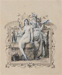 projet d'illustration: allégorie des arts et de la prudence by luc olivier merson